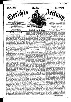 Berliner Gerichts-Zeitung on Jan 14, 1893