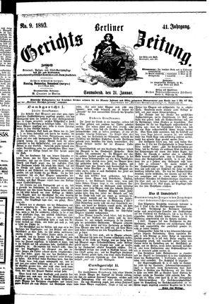 Berliner Gerichts-Zeitung vom 21.01.1893