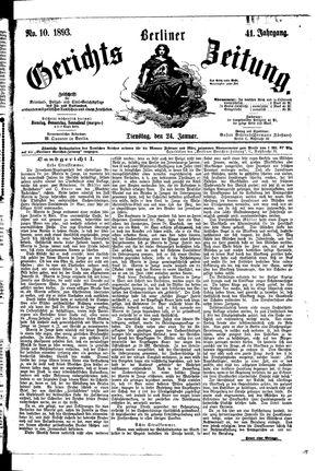 Berliner Gerichts-Zeitung vom 24.01.1893