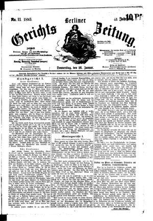 Berliner Gerichts-Zeitung vom 26.01.1893