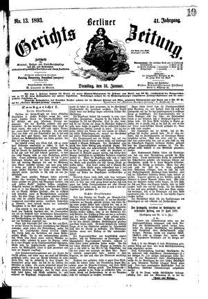 Berliner Gerichts-Zeitung vom 31.01.1893