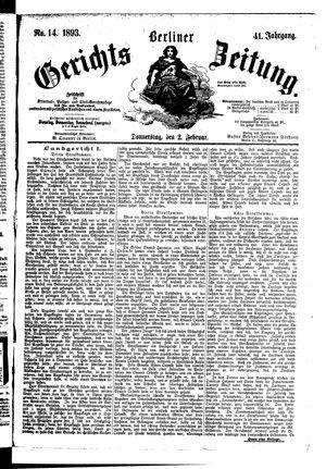 Berliner Gerichts-Zeitung vom 02.02.1893