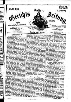 Berliner Gerichts-Zeitung vom 07.02.1893