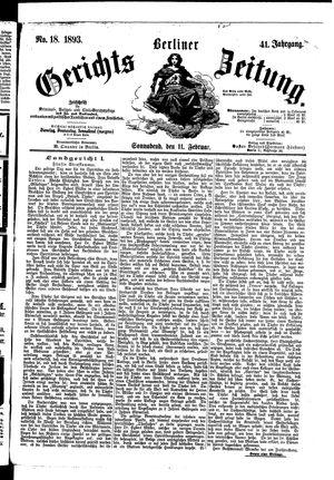 Berliner Gerichts-Zeitung vom 11.02.1893