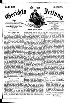 Berliner Gerichts-Zeitung vom 14.02.1893