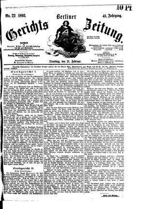 Berliner Gerichts-Zeitung vom 21.02.1893