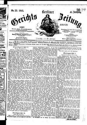 Berliner Gerichts-Zeitung vom 28.02.1893