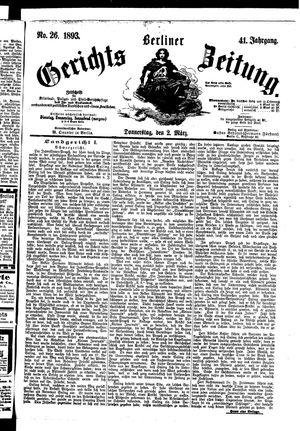 Berliner Gerichts-Zeitung vom 02.03.1893