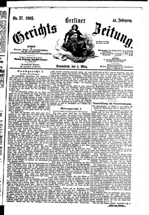 Berliner Gerichts-Zeitung vom 04.03.1893