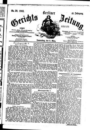 Berliner Gerichts-Zeitung vom 09.03.1893
