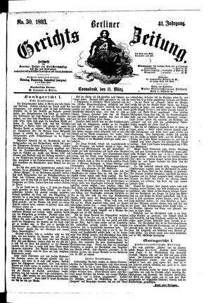 Berliner Gerichts-Zeitung vom 11.03.1893