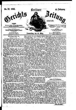 Berliner Gerichts-Zeitung vom 16.03.1893
