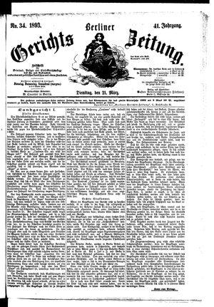 Berliner Gerichts-Zeitung vom 21.03.1893