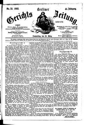 Berliner Gerichts-Zeitung vom 23.03.1893