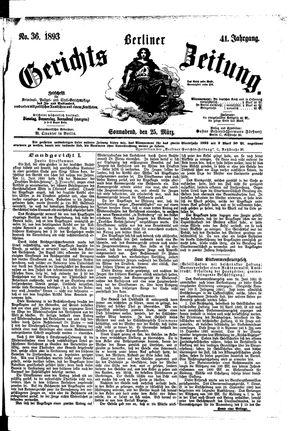 Berliner Gerichts-Zeitung vom 25.03.1893