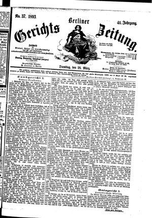 Berliner Gerichts-Zeitung vom 28.03.1893