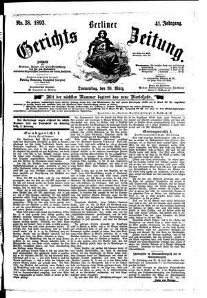 Berliner Gerichts-Zeitung vom 30.03.1893