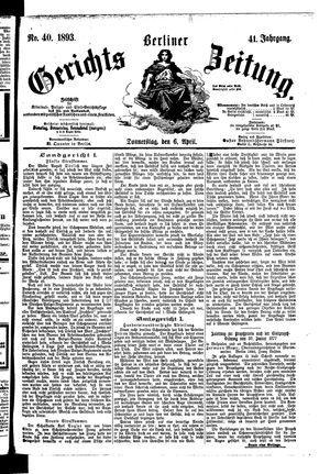 Berliner Gerichts-Zeitung vom 06.04.1893