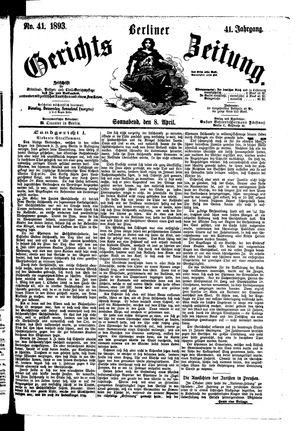 Berliner Gerichts-Zeitung vom 08.04.1893