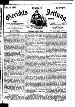 Berliner Gerichts-Zeitung vom 11.04.1893
