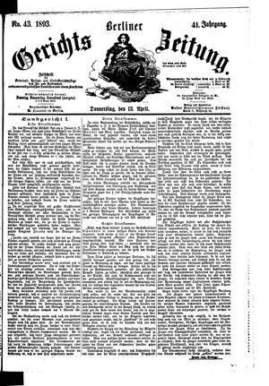 Berliner Gerichts-Zeitung vom 13.04.1893