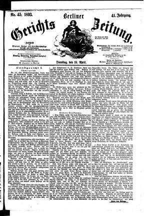 Berliner Gerichts-Zeitung vom 18.04.1893