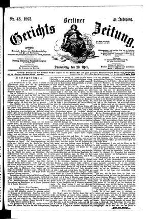 Berliner Gerichts-Zeitung vom 20.04.1893