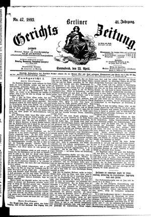 Berliner Gerichts-Zeitung vom 22.04.1893