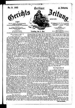 Berliner Gerichts-Zeitung vom 02.05.1893