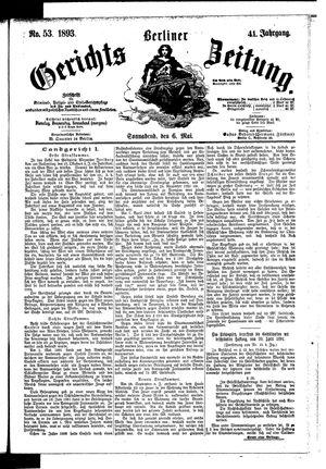 Berliner Gerichts-Zeitung vom 06.05.1893