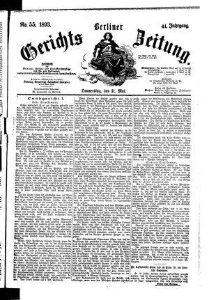Berliner Gerichts-Zeitung vom 11.05.1893