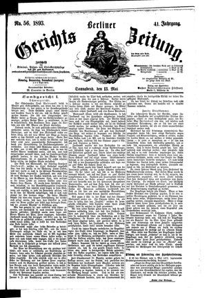 Berliner Gerichts-Zeitung on May 13, 1893