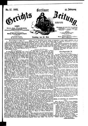 Berliner Gerichts-Zeitung on May 16, 1893