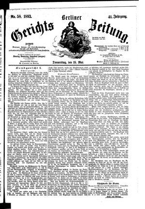 Berliner Gerichts-Zeitung vom 18.05.1893