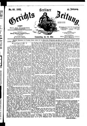 Berliner Gerichts-Zeitung vom 25.05.1893