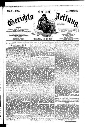 Berliner Gerichts-Zeitung vom 27.05.1893