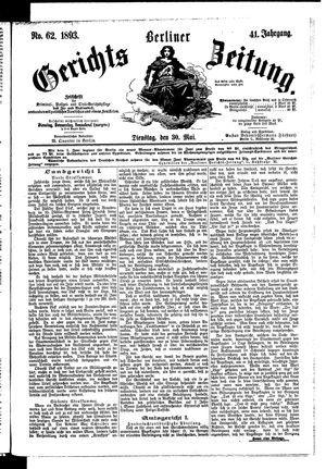Berliner Gerichts-Zeitung vom 30.05.1893