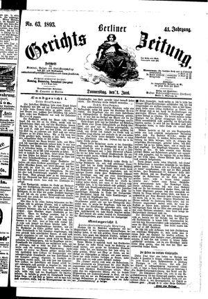 Berliner Gerichts-Zeitung vom 01.06.1893