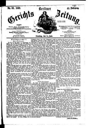 Berliner Gerichts-Zeitung vom 06.06.1893