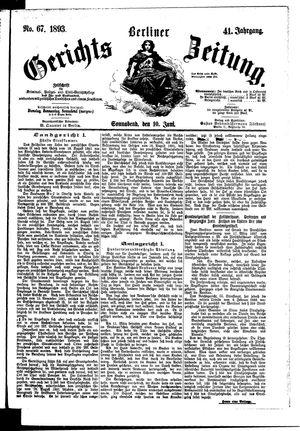 Berliner Gerichts-Zeitung vom 10.06.1893