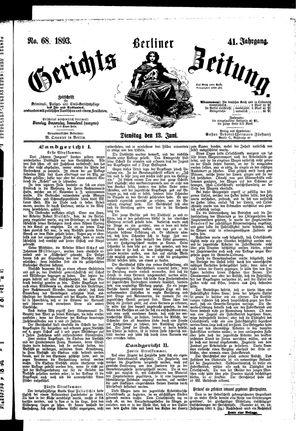 Berliner Gerichts-Zeitung vom 13.06.1893