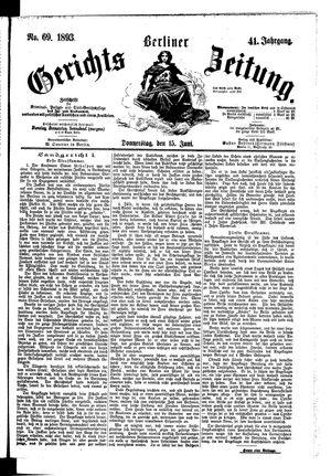 Berliner Gerichts-Zeitung vom 15.06.1893