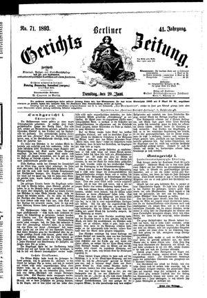 Berliner Gerichts-Zeitung vom 20.06.1893