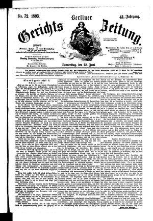 Berliner Gerichts-Zeitung on Jun 22, 1893