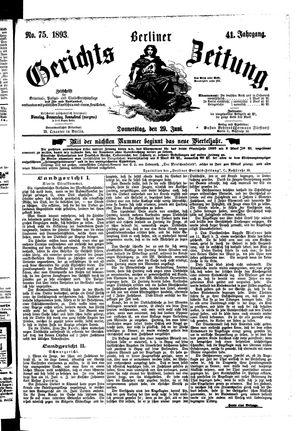Berliner Gerichts-Zeitung vom 29.06.1893