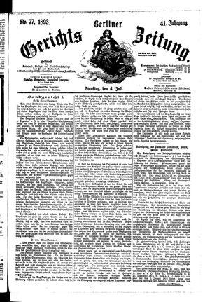 Berliner Gerichts-Zeitung vom 04.07.1893