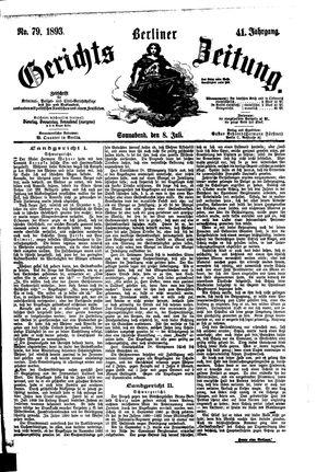 Berliner Gerichts-Zeitung on Jul 8, 1893