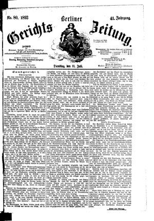 Berliner Gerichts-Zeitung vom 11.07.1893