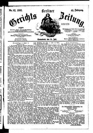 Berliner Gerichts-Zeitung vom 15.07.1893