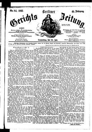 Berliner Gerichts-Zeitung vom 20.07.1893